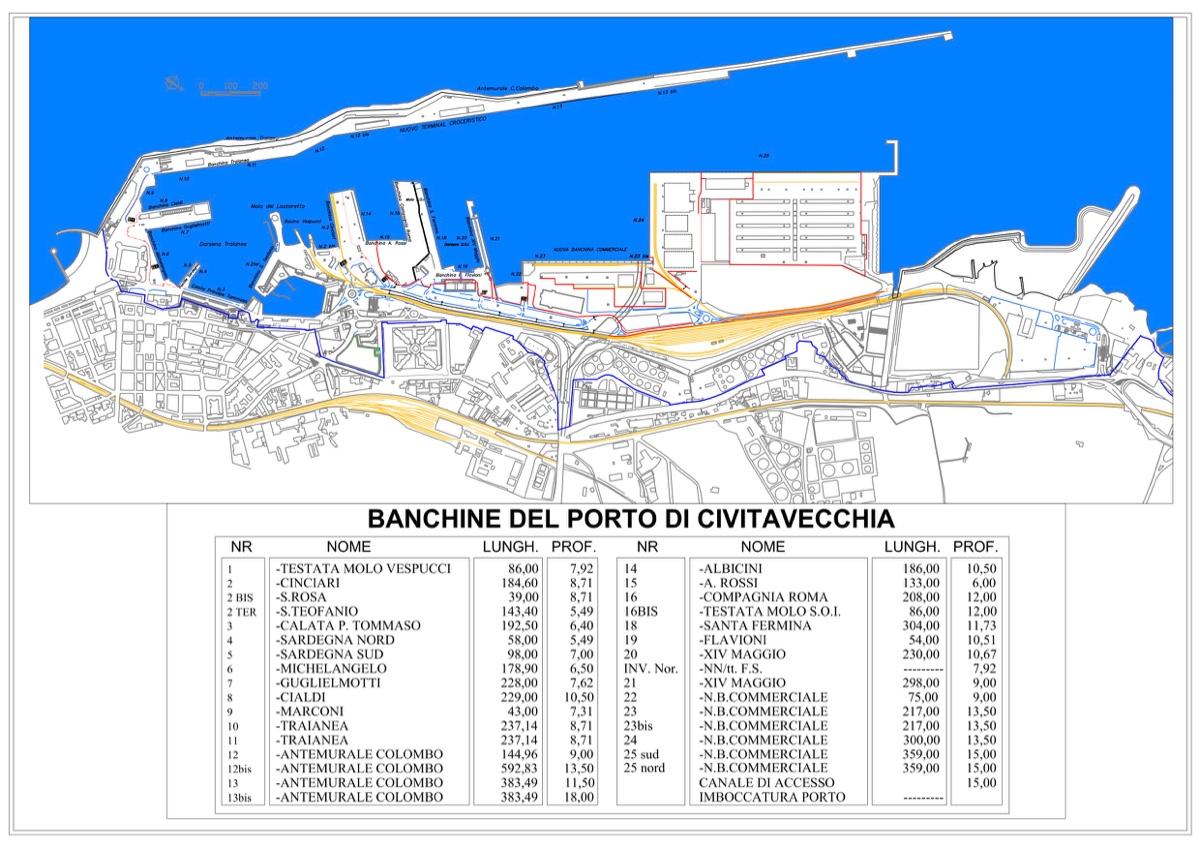 Mappa del porto